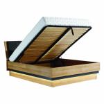 YORK Y18 / 140 SP  łóżko - tapicerowany zagłówek z pojemnikiem - dąb grandson - meble Bog-Fran
