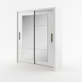 DEA 2 szafa 180 cm biała z lustrami