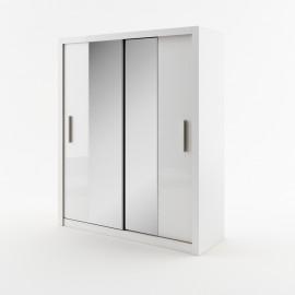 DEA 3 szafa 180 cm biała z lustrami
