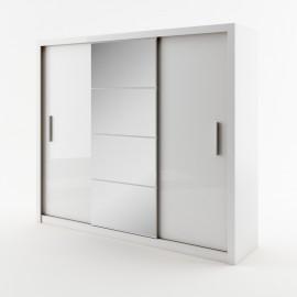 DEA biała szafa 250 z lustrem