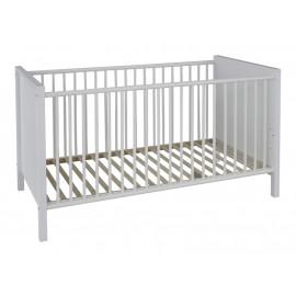 OLE łóżeczko dziecięce białe matowe 70 x 140