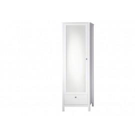 OLE biała garderoba matowa 1 drzwi lustro