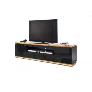 Chiara szafka pod telewizor 2d2s czarny lakier / drewno olejowane