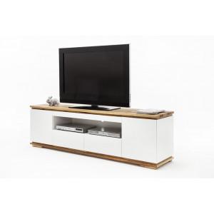 Chiara szafka pod telewizor 2d2s biały lakier / drewno olejowane