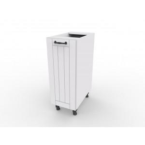 Lora D3 biała szafka kuchenna - styl prowansalski - czarny uchwyt