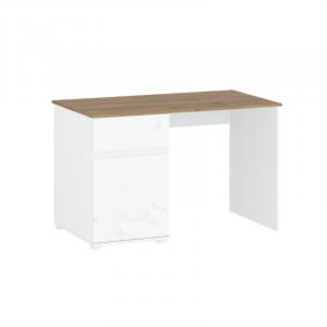 VIGO biurko 1d1s/120  biały połysk / dąb wotan
