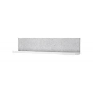 BOTA 2484FG01 półka biały mat / beton colorado