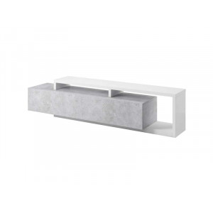 Bota szafka pod telewizor biała / colorado beton