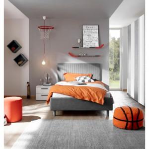 ENJOY łóżko 120 624503-52 tapicerowane styl Włoski