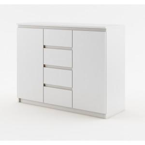 DEA 4 komoda z drzwiami i szufladami biała