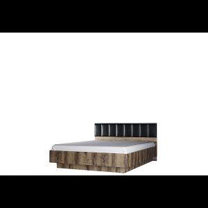 JAGGER łoże 160 z pojemnikiem tapicerowane dąb monastery / czarny