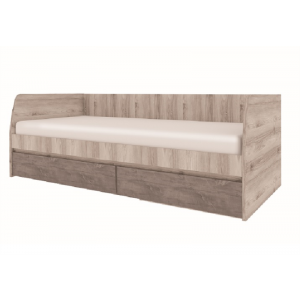 JAZZ łóżko 2s/90 kasztan nairobi / onyx
