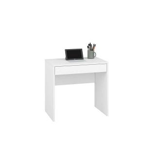 KENDO 01 Małe biurko toaletka z szufladą biała