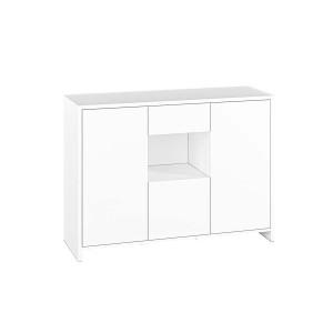 KENDO 05 Komoda z 3 drzwiami 1 szufladą i wnęką biała