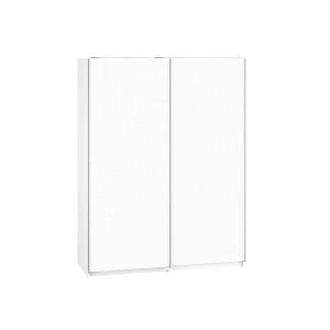 KENDO 07 Szafa z drzwiami przesuwnymi ubraniowa 2 drzwiowa z bieliźniarką biała