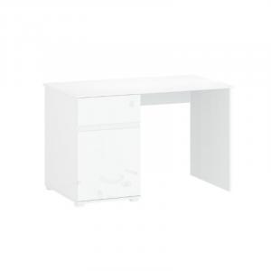 LINGO biurko 1d1s/120 biały połysk
