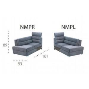 METRO NMPR/NMPL Moduł otomana z niskimi oparciami
