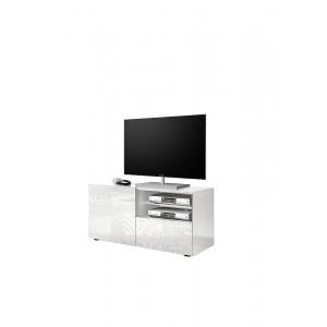MIRO stolik telewizyjny lakier biały połysk z nadrukiem ozdobnym 209083-01