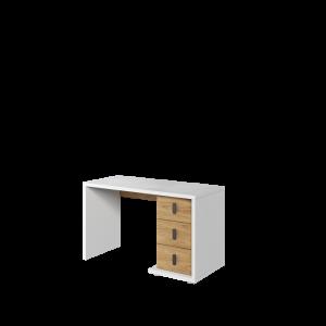 MASSI MS-06 - biurko 3s - biały/hikora naturalna