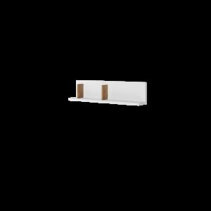 MASSI MS-07 - półka wisząca - biały/hikora naturalna
