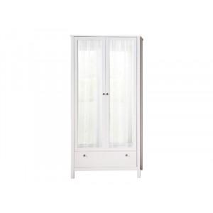 OLE biała garderoba matowa 2 drzwi lustro przedpokój