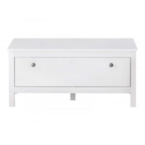OLE biała ławka matowa szeroka