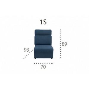 PLATO 1S Moduł 1 osobowy siedzisko
