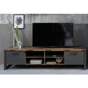 PRISMA - szafka pod telewizor długa - stolik industrialny