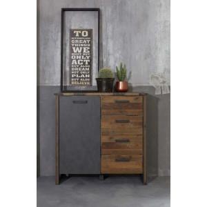 PRISMA komoda drzwi / szuflady - styl industrialny