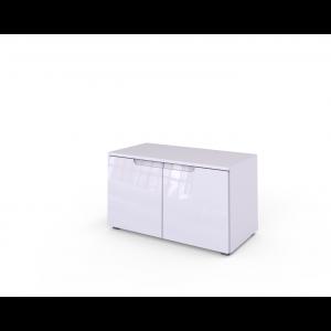 SELENE 18 biała komoda połysk 2 drzwi