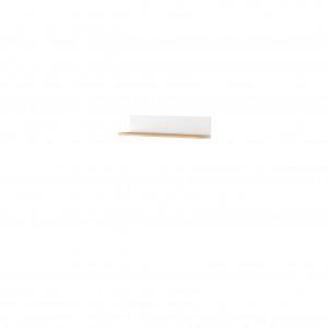 STORY SO-14 - półka wisząca - biały/dąb nash