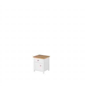 STORY SO-07 - stolik nocny 1d1s - biały/dąb nash