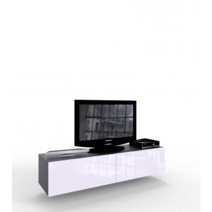 VIGO 14 szafka pod telewizor biało czarna