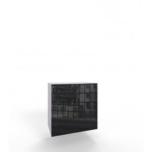 VIGO KWADRAT - biało czarna szafka wisząca w połysku