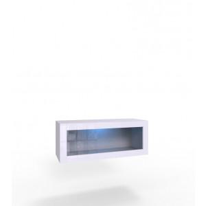 VIGO 90 witryna biała oskzlona z oświetleniem LED