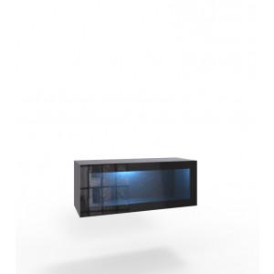 VIGO 90 czarna - witryna oszklona + LED