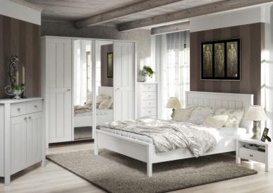 Meble systemowe VILLAGE do sypialni w kolorze białym